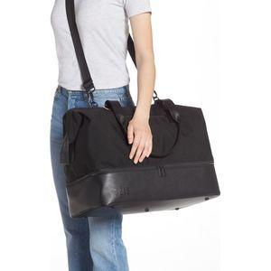 Beis Large Weekender Travel Tote Bag-Black